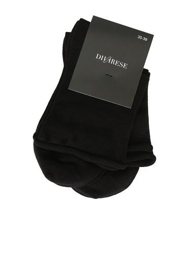 Divarese Divarese 5024846 2'Li Kadın Çorap Seti Siyah